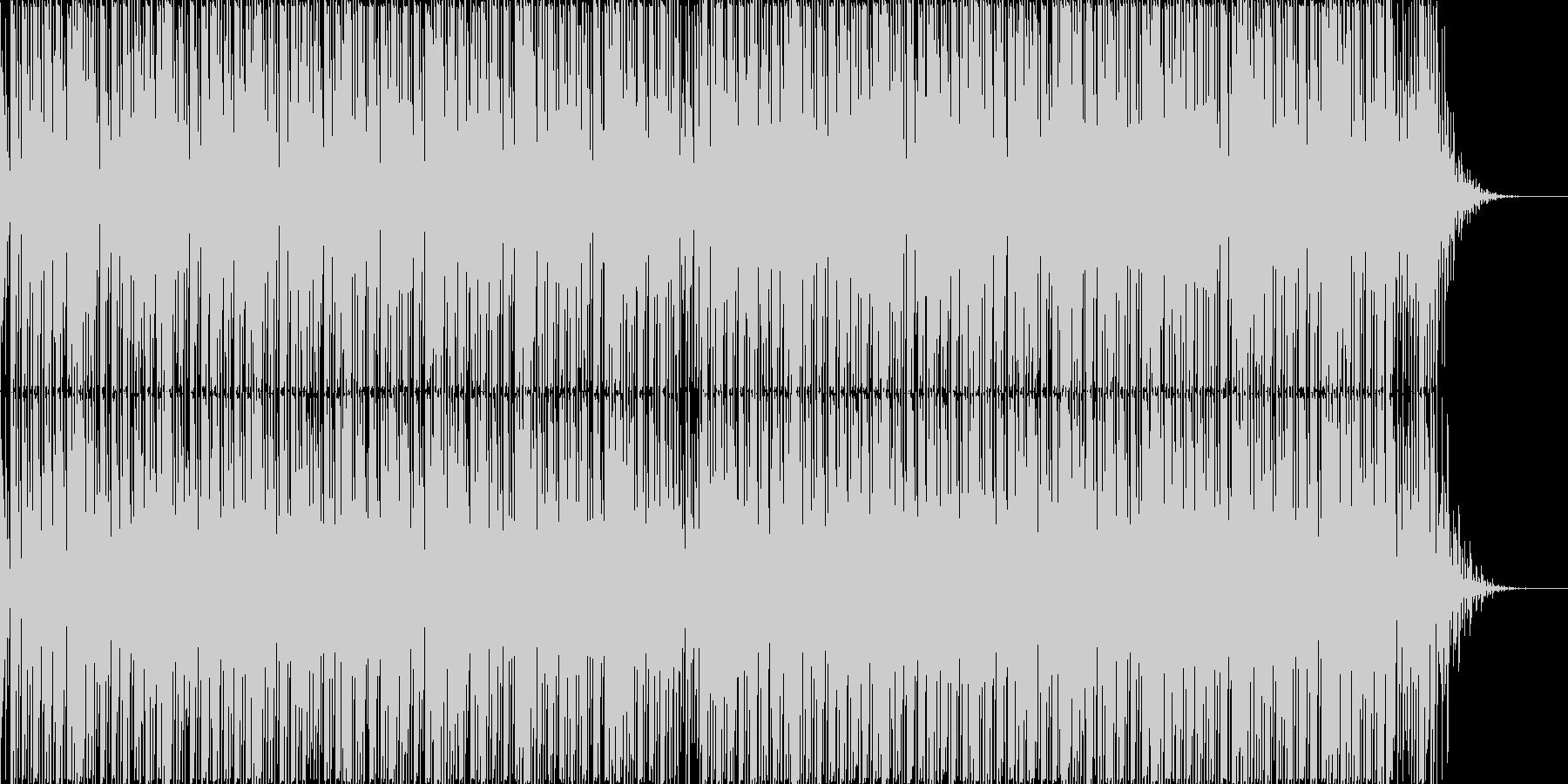 無機質な曲。ニュースや原稿読みのバックにの未再生の波形
