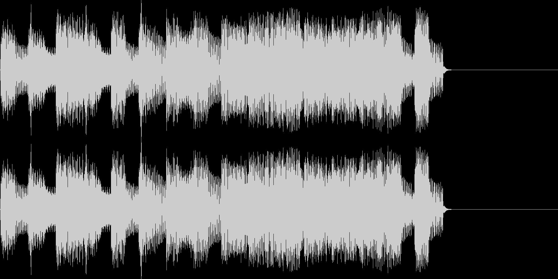 達成感をイメージしたジングル(FM音源)の未再生の波形