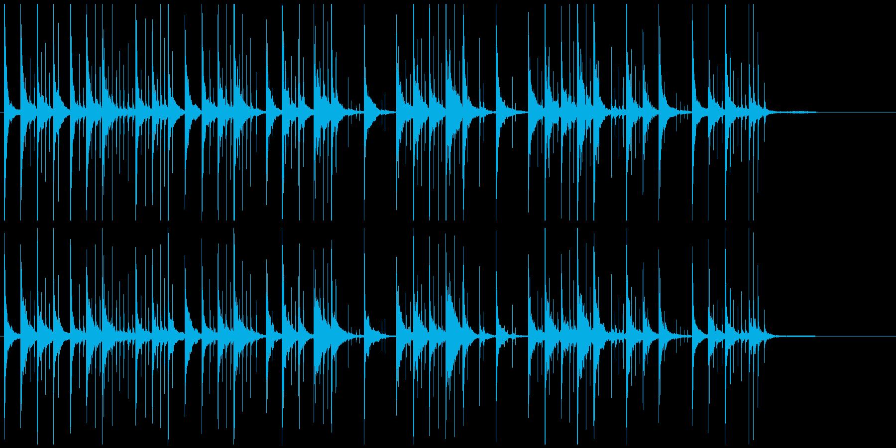 コミカルジングル パソコン関連ほのぼのの再生済みの波形