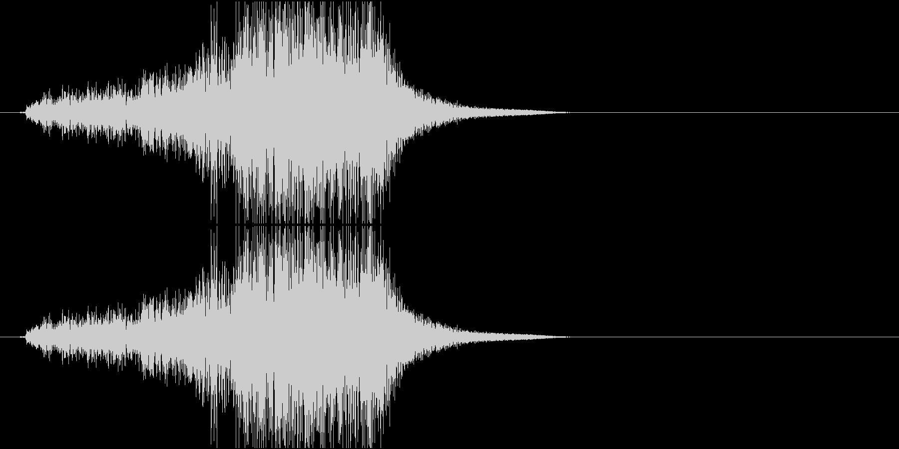 Katana 大型の剣を鞘から抜く音の未再生の波形