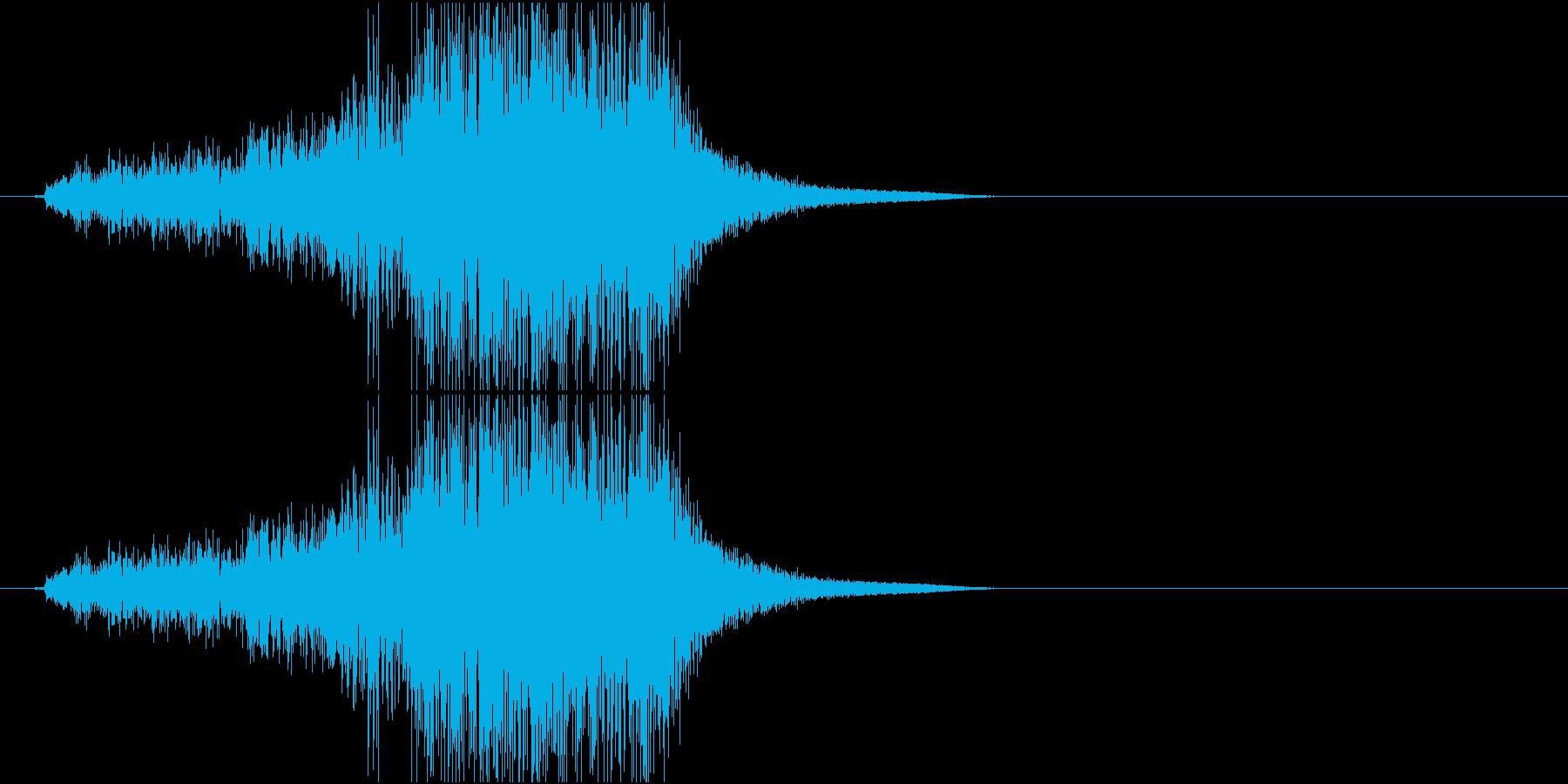 Katana 大型の剣を鞘から抜く音の再生済みの波形