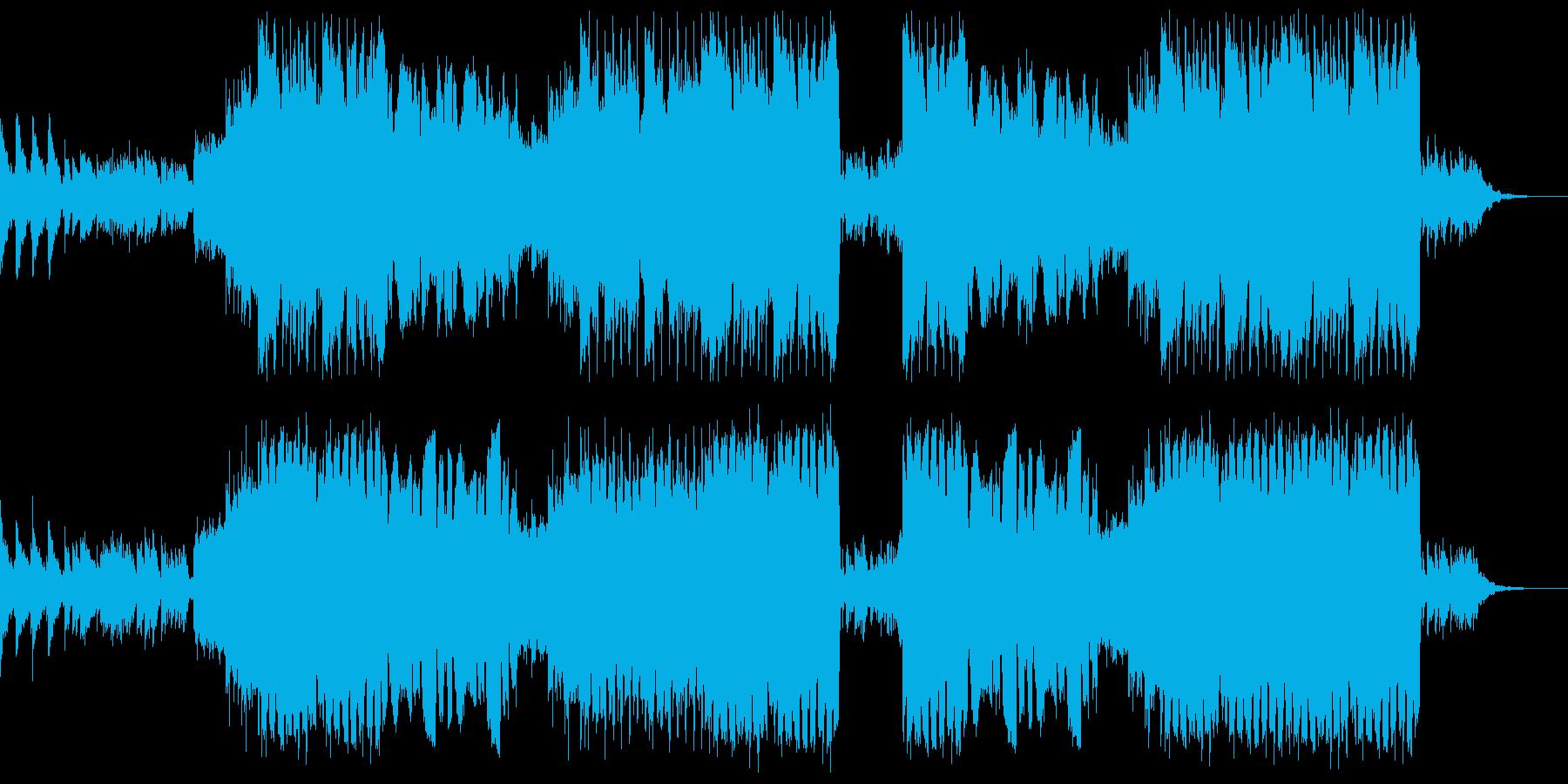ハロウィン用BGM③壮大なテーマ曲の再生済みの波形