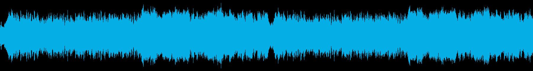 幻想的で落ち着いたアンビエント ループの再生済みの波形