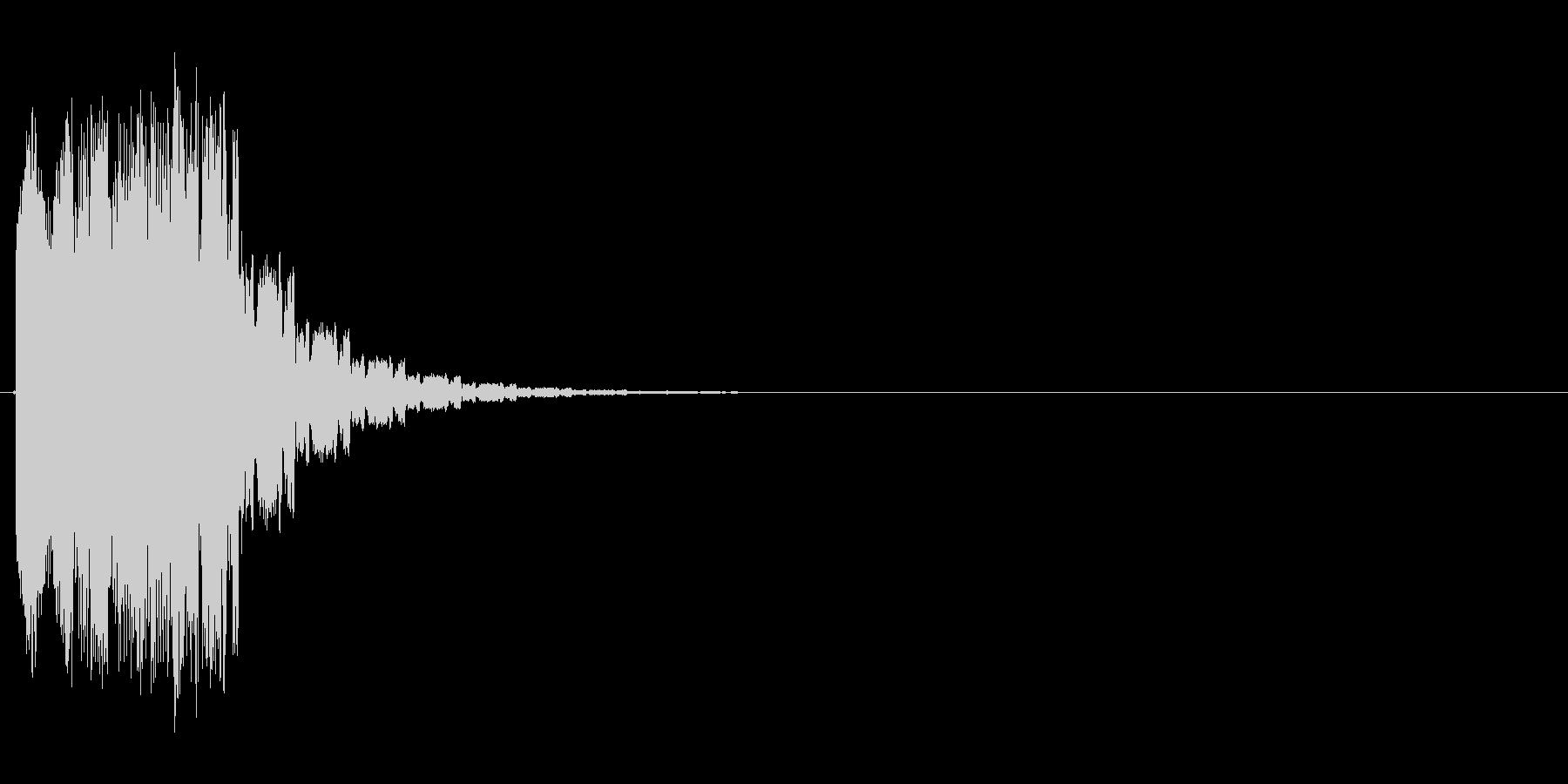 シューン↓(場面転換、ワープ、次の場面)の未再生の波形