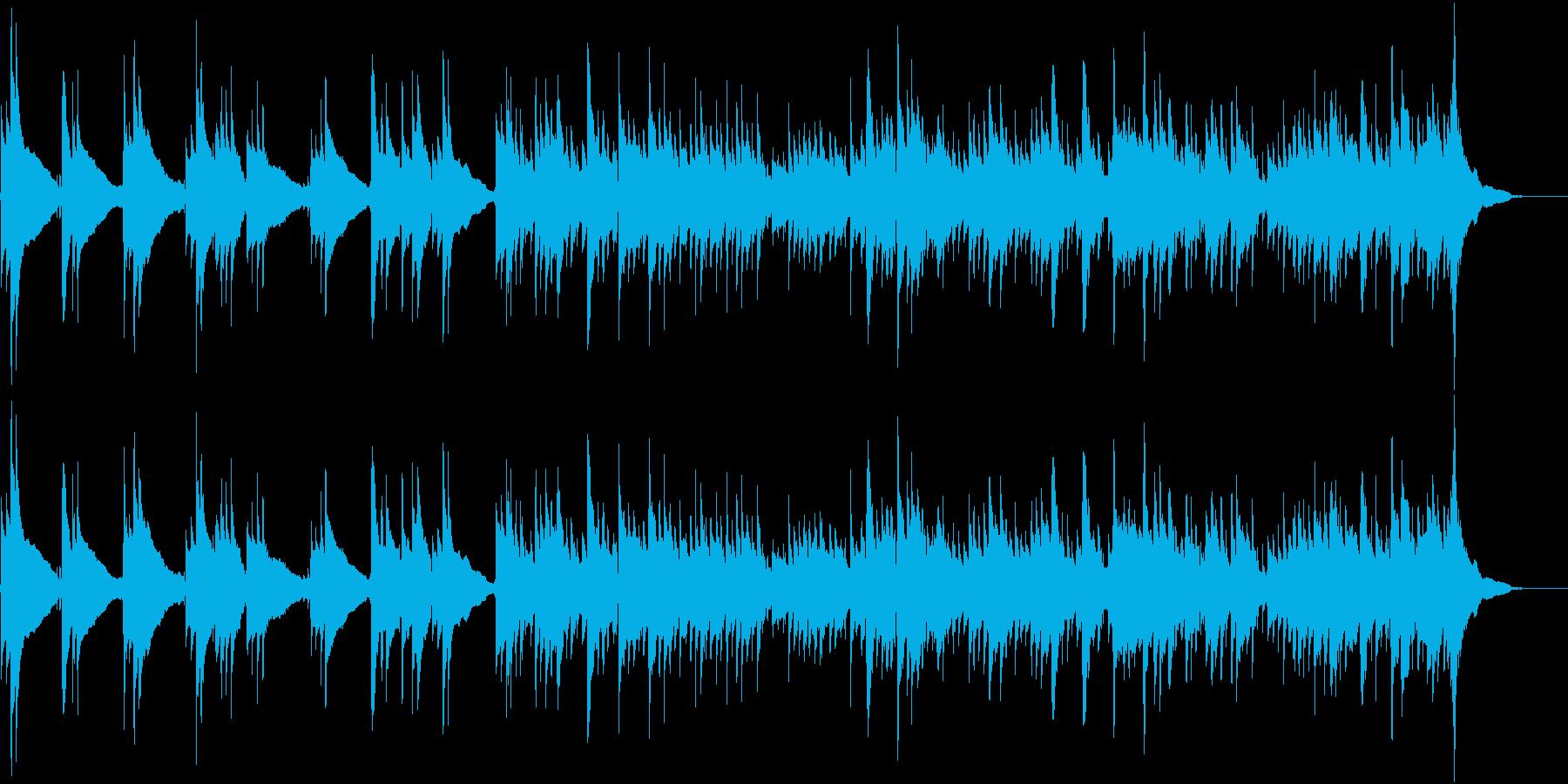 爽やかなアコギのみの曲3(生音)の再生済みの波形