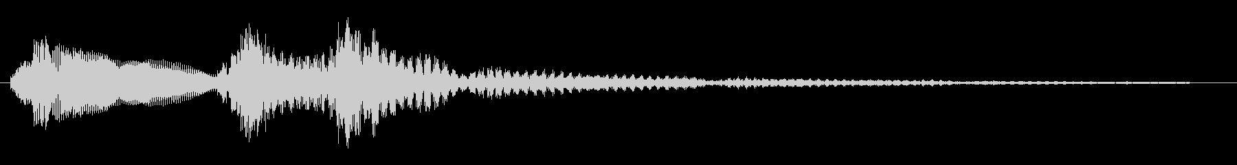 トゥントゥトゥーンというお知らせ音の未再生の波形