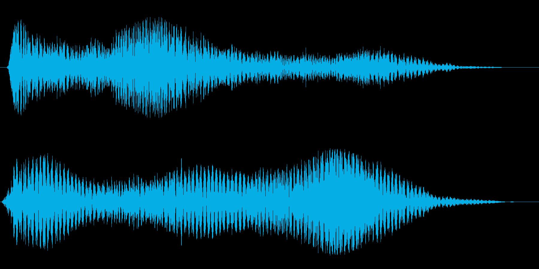 広がる宇宙や惑星(SFゲームの飛行音)の再生済みの波形