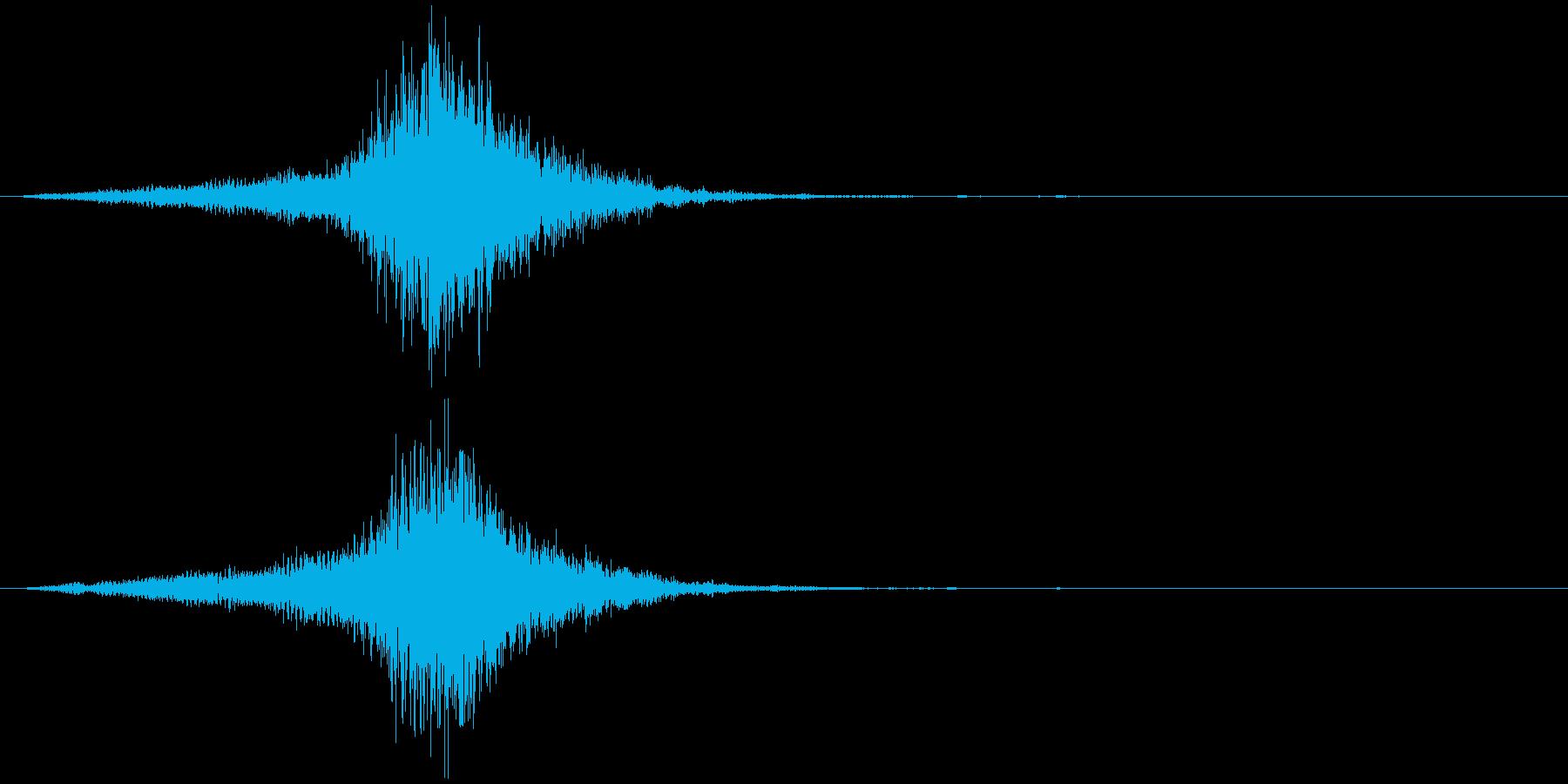 映画に合う効果音02の再生済みの波形