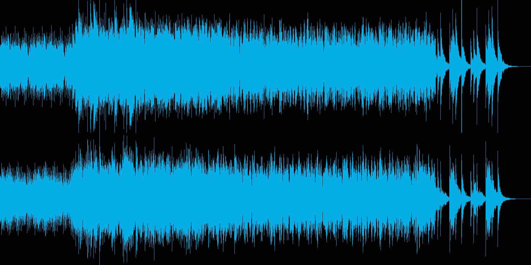 ハープとナイロンギターの幻想的な雰囲気の再生済みの波形