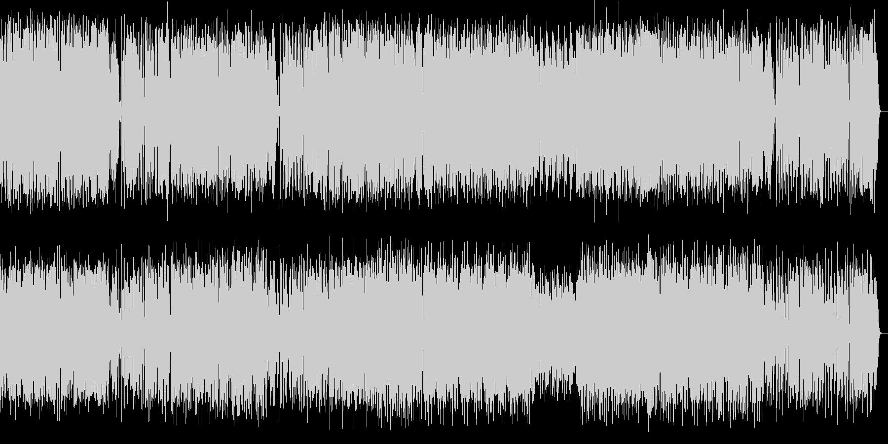 長調のラグタイムピアノ曲の未再生の波形