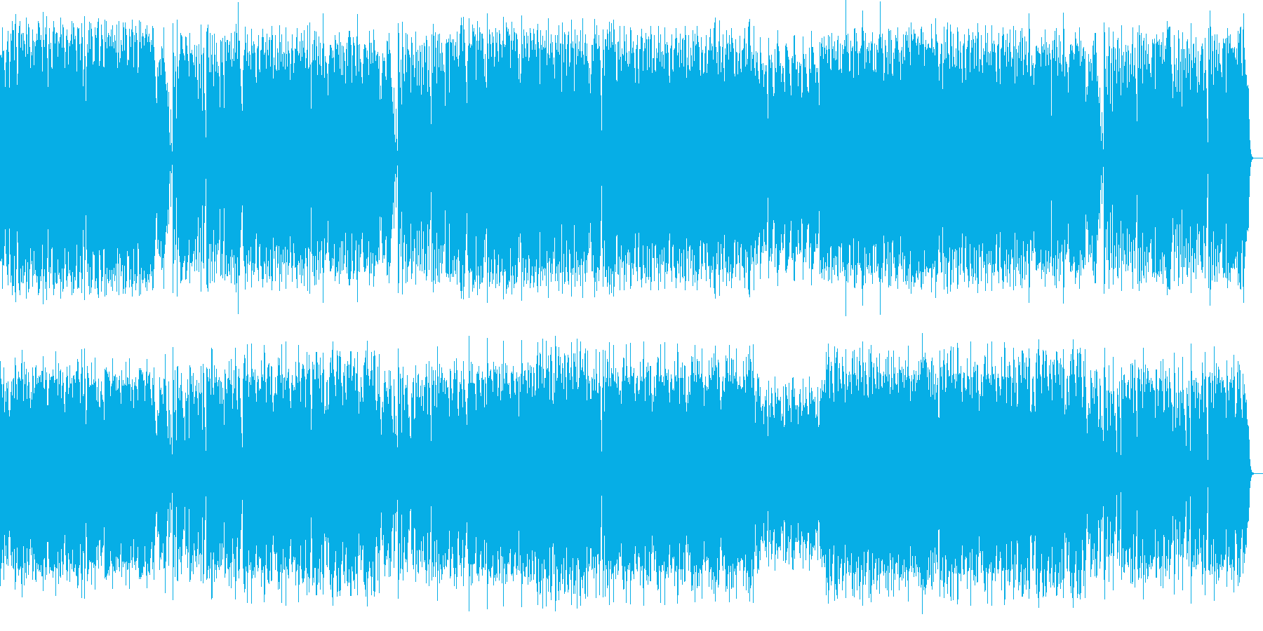 長調のラグタイムピアノ曲の再生済みの波形
