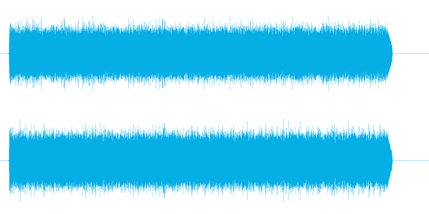 シャー(水の音、砂嵐)の再生済みの波形