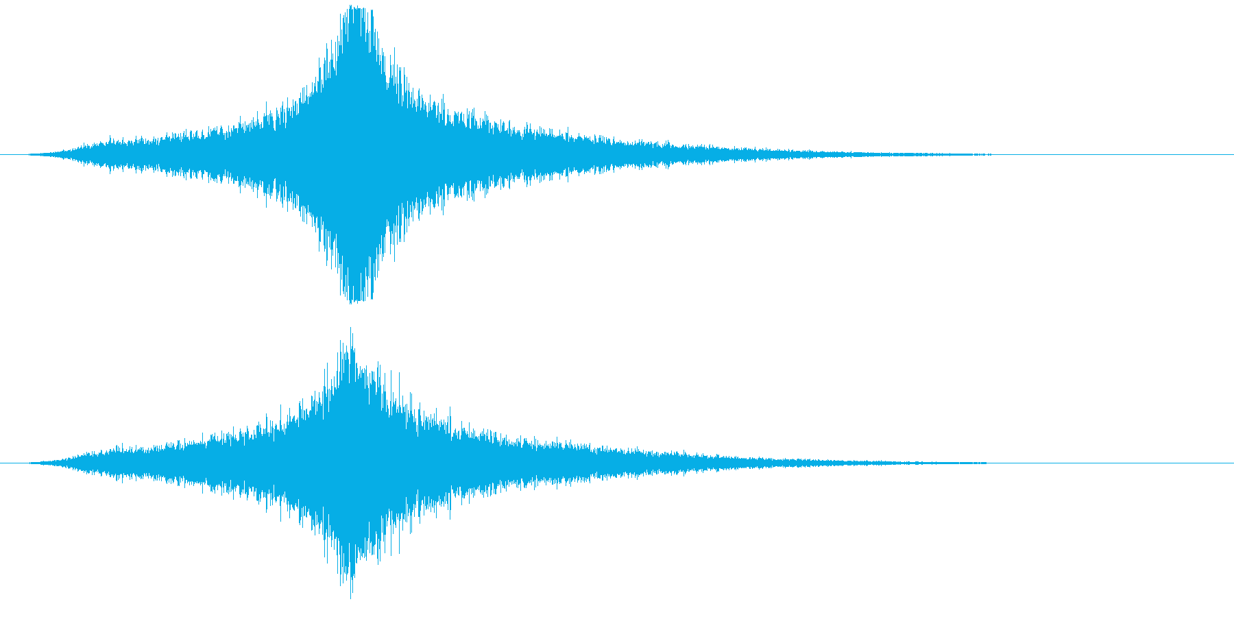 宇宙船・飛翔体#4通過 中央ゆっくりの再生済みの波形