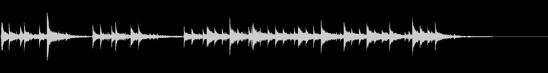 ピアノ・オルゴール風・短い曲の未再生の波形