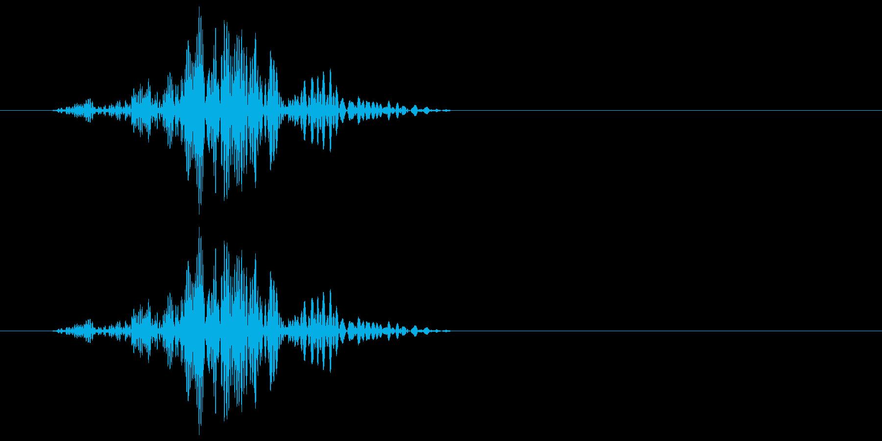 ヒュッ(風を切ったような音)の再生済みの波形