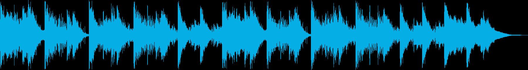 海を想像するリラクゼーション曲の再生済みの波形