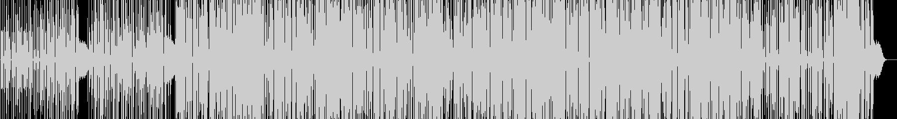躍動感のある、やや無機質なテクノの未再生の波形