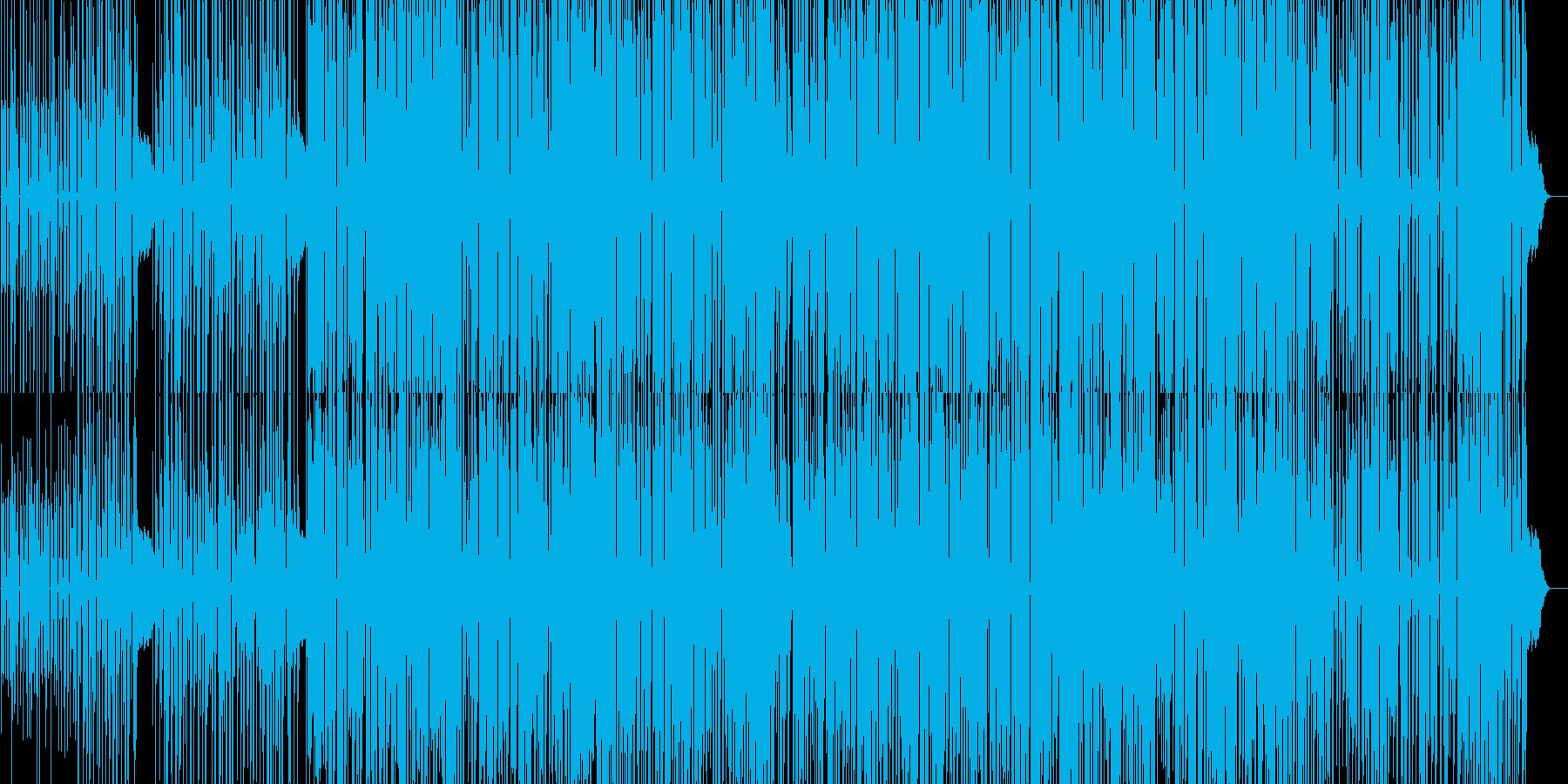 躍動感のある、やや無機質なテクノの再生済みの波形