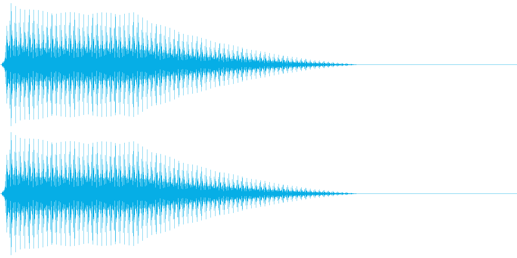 OctaveCom アプリ用タッチ音6の再生済みの波形