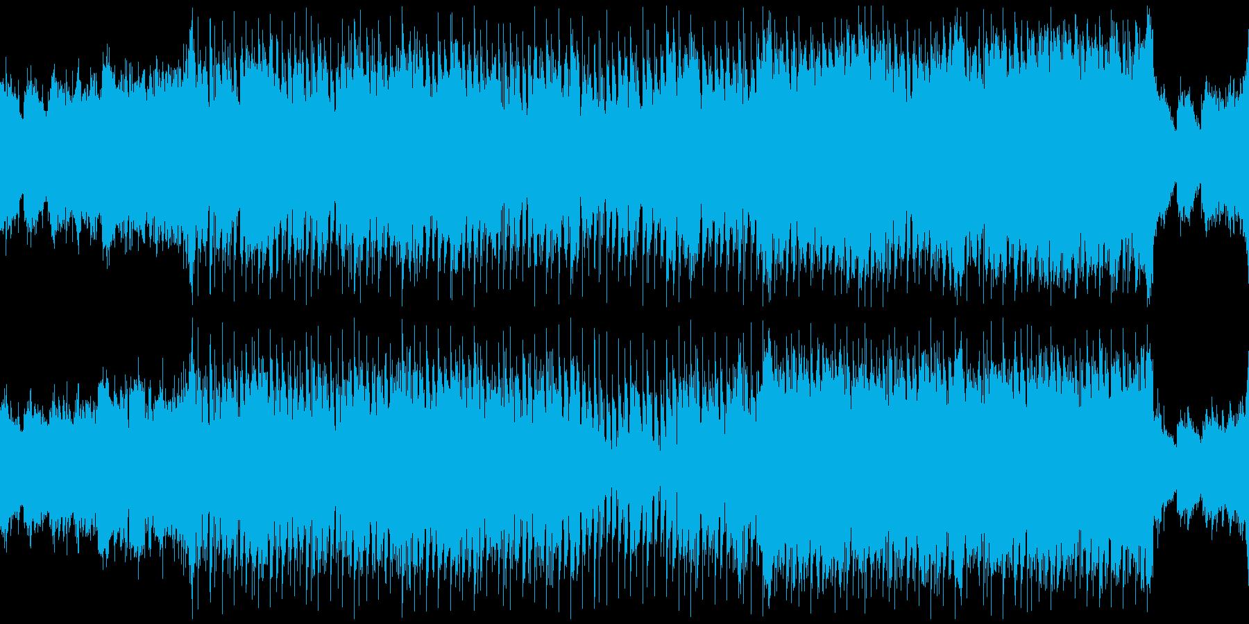テンポの良いお洒落な曲の再生済みの波形