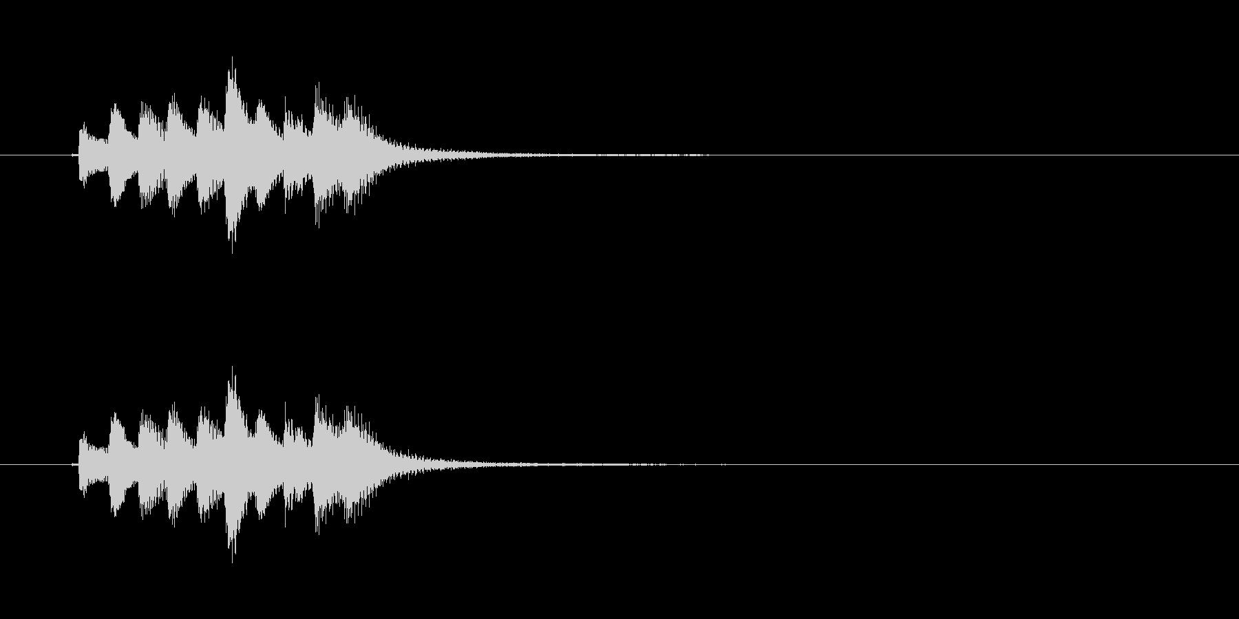 和風効果音 琴5の未再生の波形