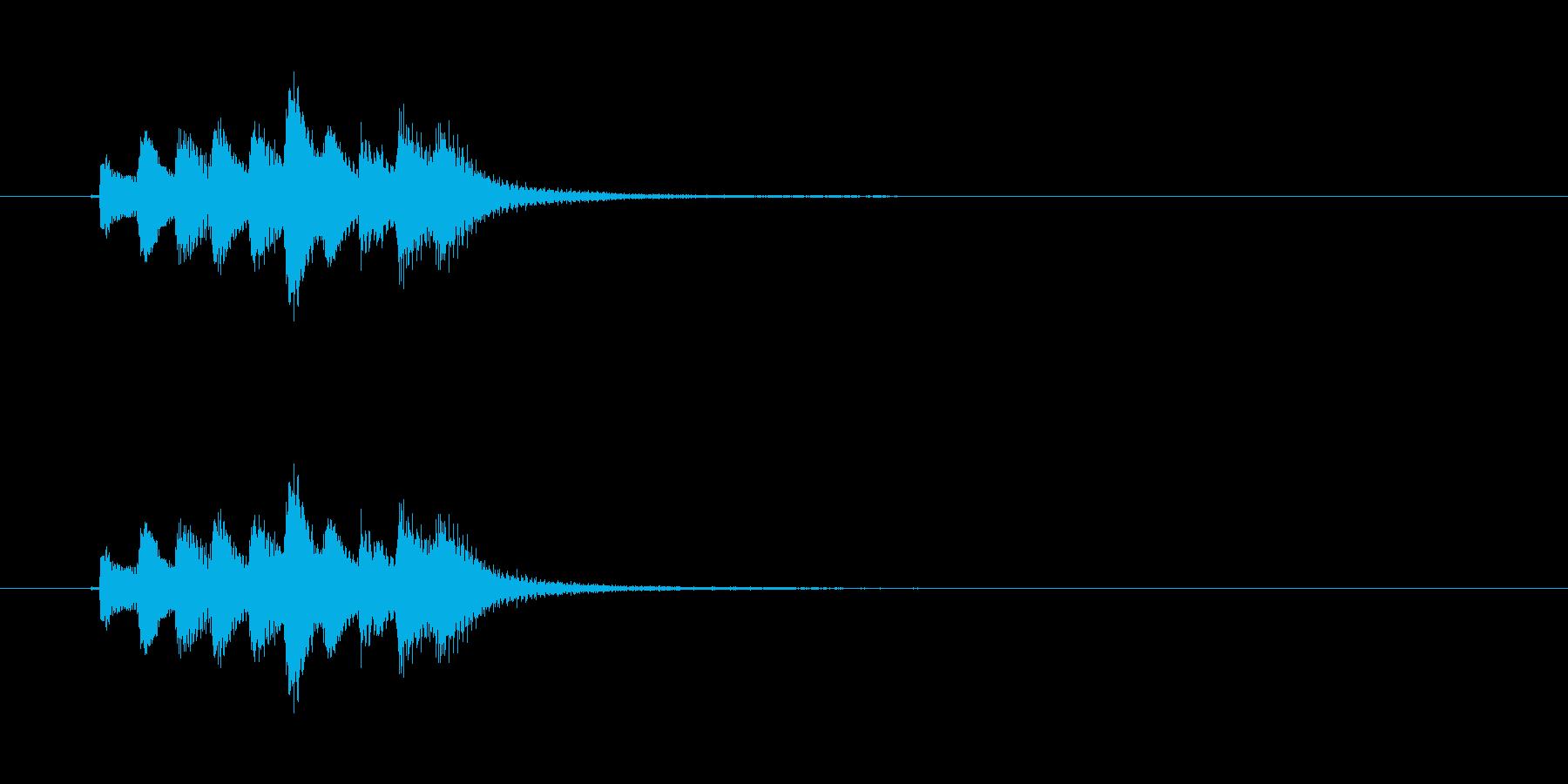 和風効果音 琴5の再生済みの波形