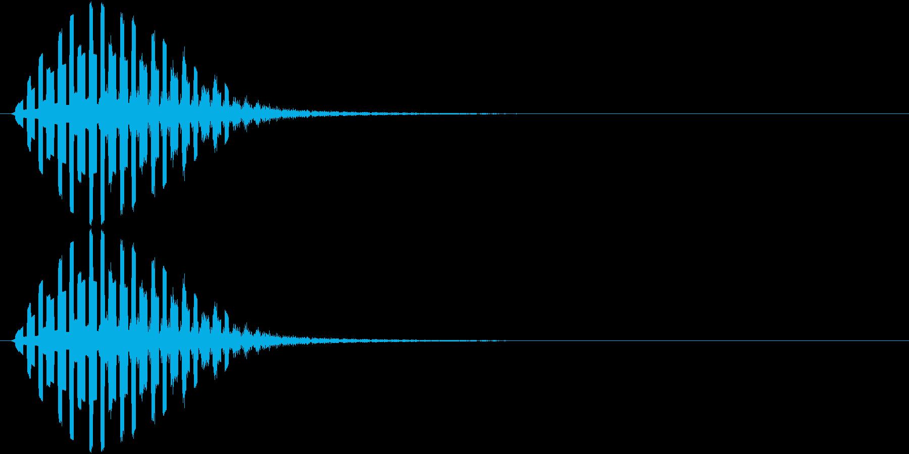 攻撃呪文、電磁波系の再生済みの波形