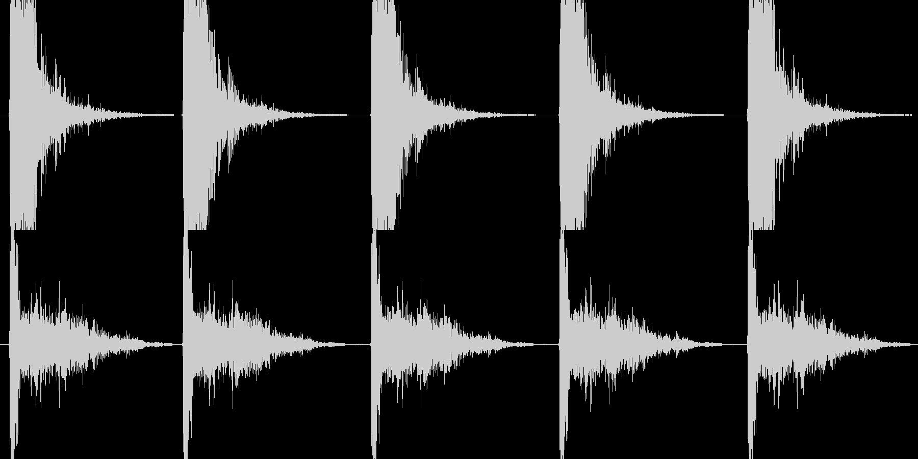 ハンドガン系の発砲音の未再生の波形