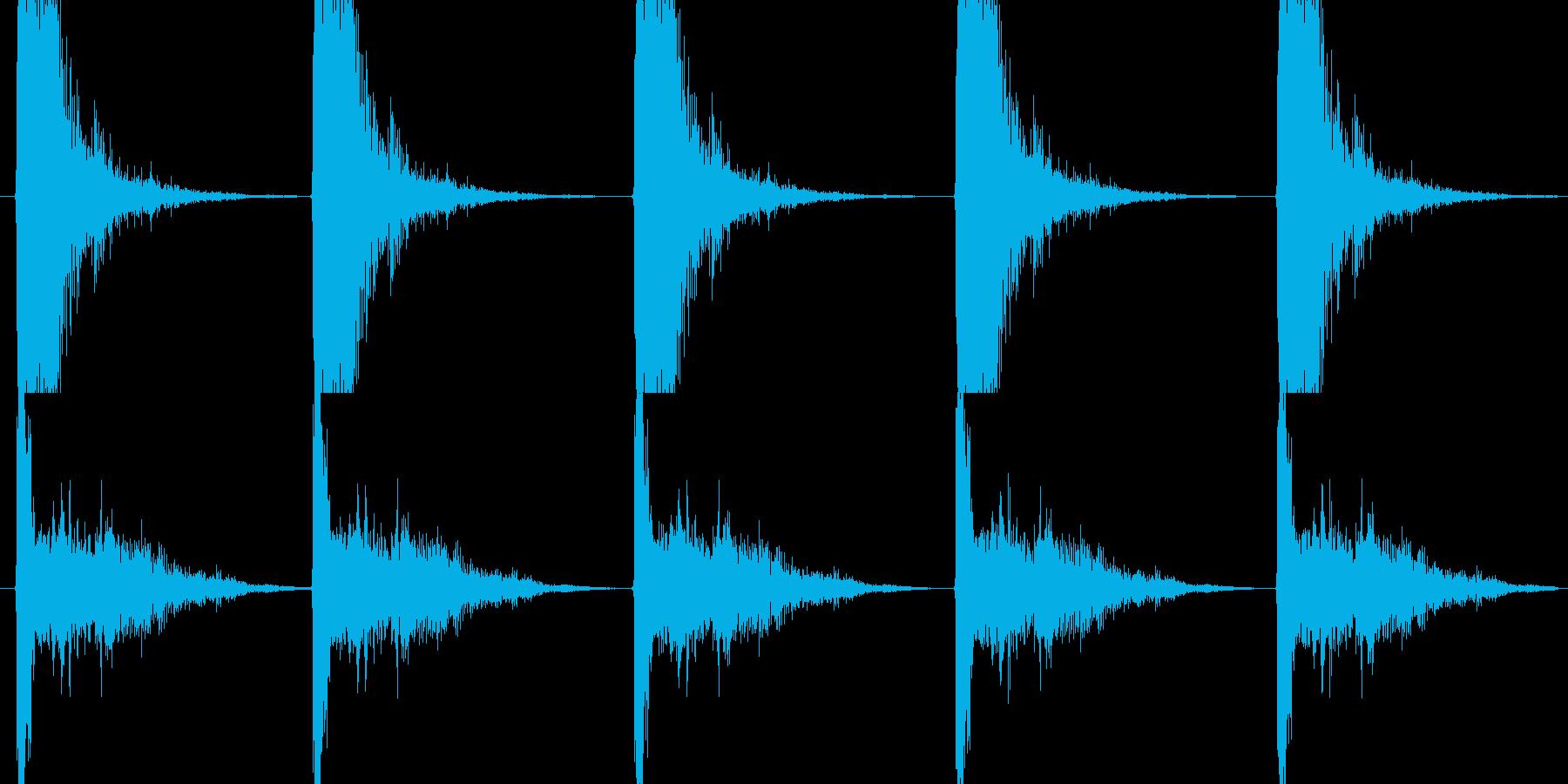 ハンドガン系の発砲音の再生済みの波形