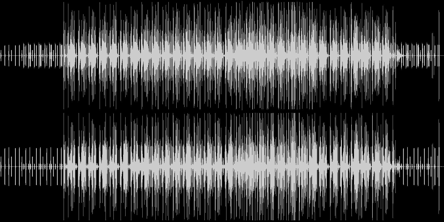 不思議で近未来的な映像に合う電子音楽の未再生の波形