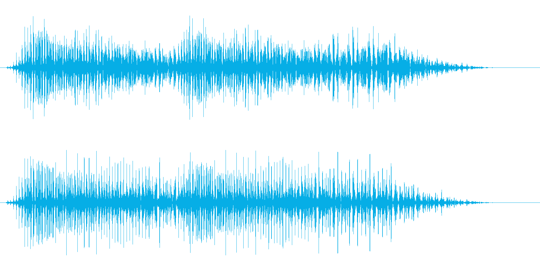 びょうびょう(間の抜けてる脇役のキャラ)の再生済みの波形