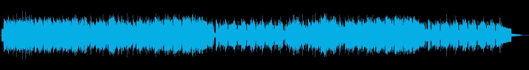 神秘的なピアノシンセの再生済みの波形