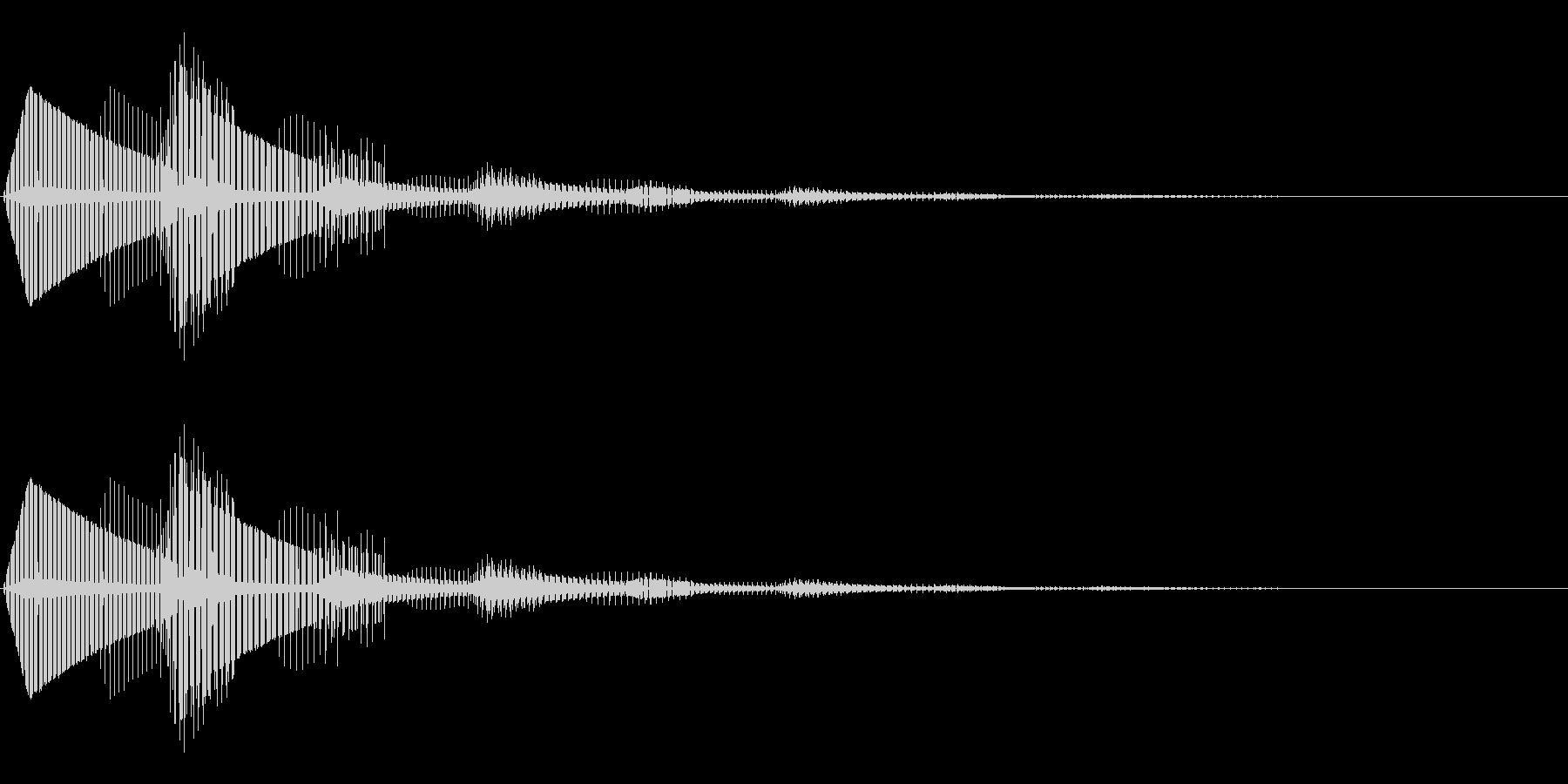 エラー表示が出た時の効果音の未再生の波形