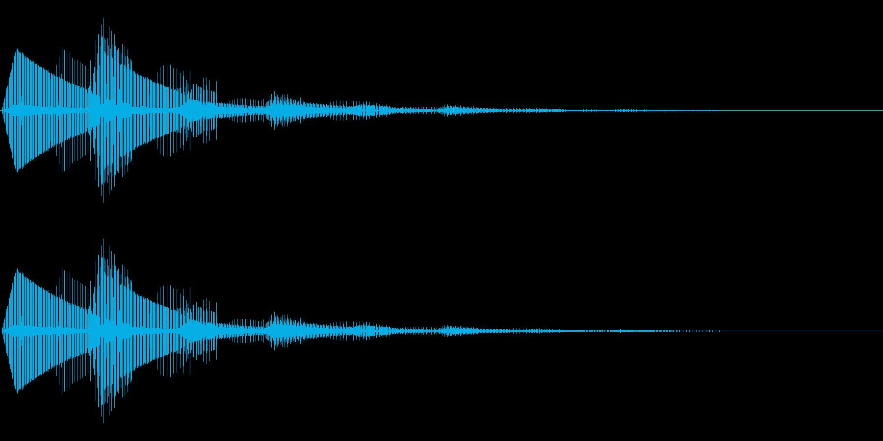 エラー表示が出た時の効果音の再生済みの波形
