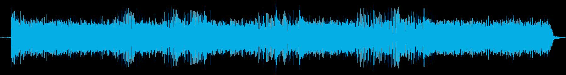 【エレキギター・リフ】ハードロック風の再生済みの波形