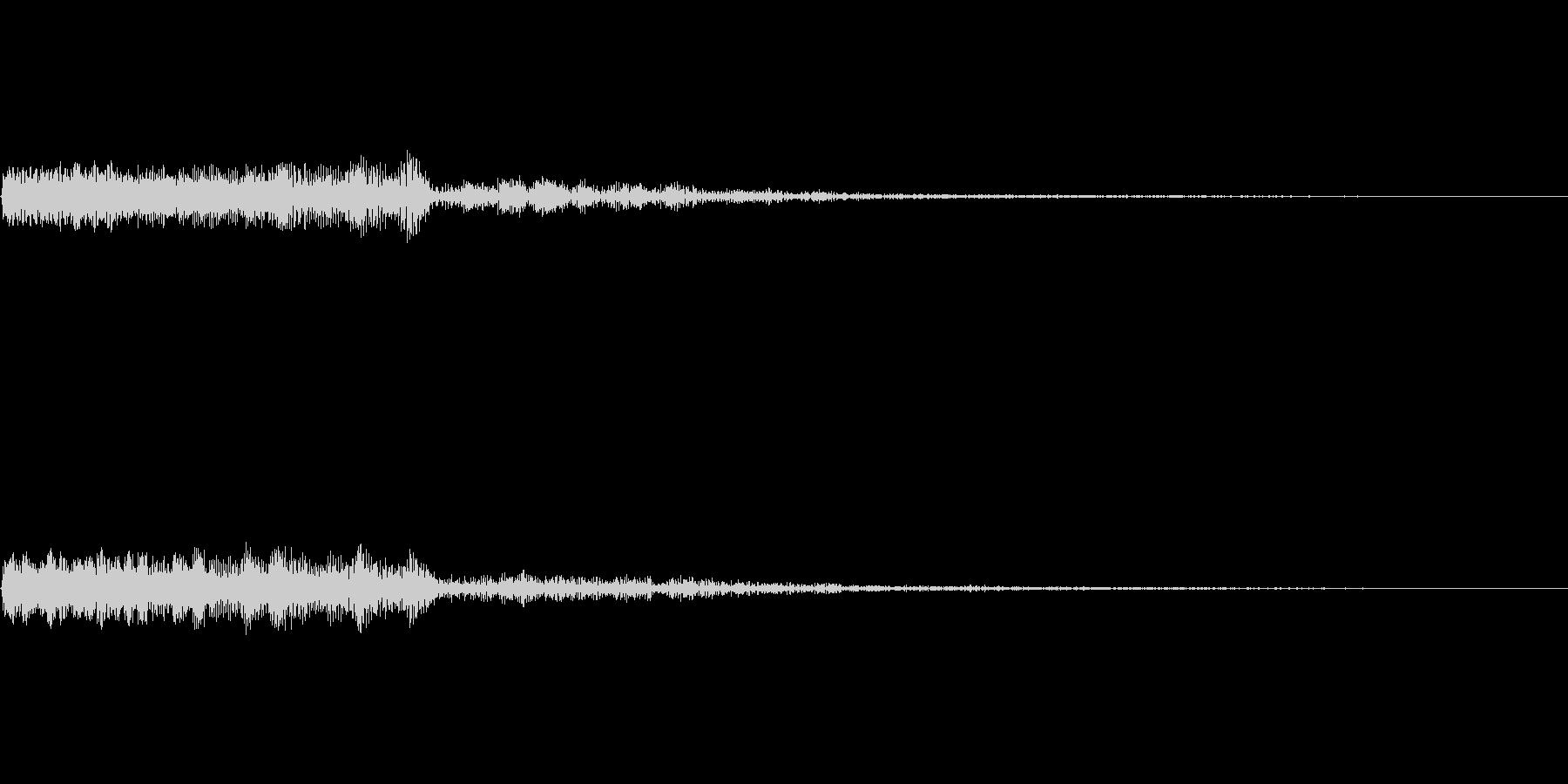 ピューン(シューティングゲームの発射音)の未再生の波形