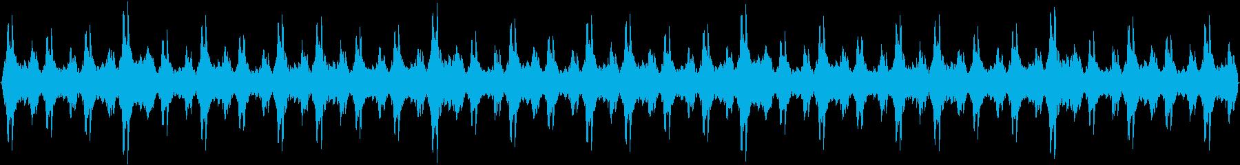 クリスマス ベルの音の再生済みの波形