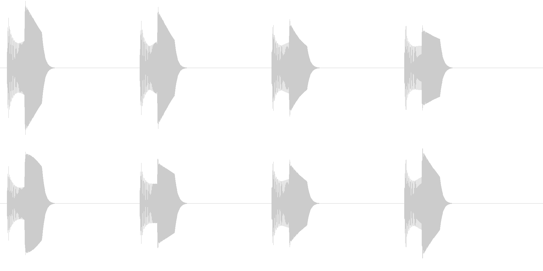 足音(ぴょこぴょこ)の未再生の波形
