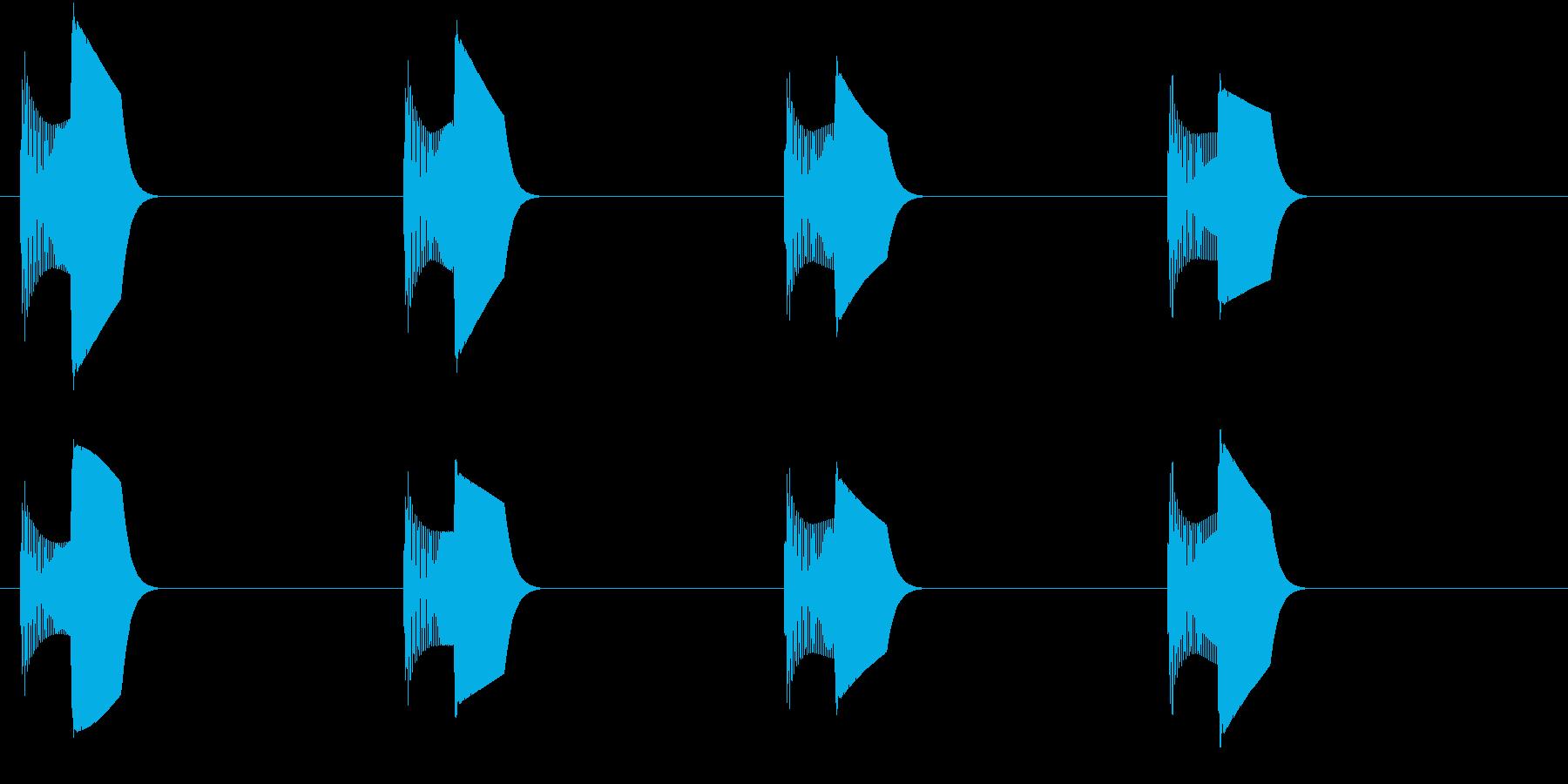 足音(ぴょこぴょこ)の再生済みの波形