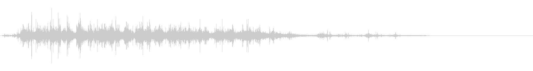 「ガラガラ…」木片シェーカー音リバーブ入の未再生の波形