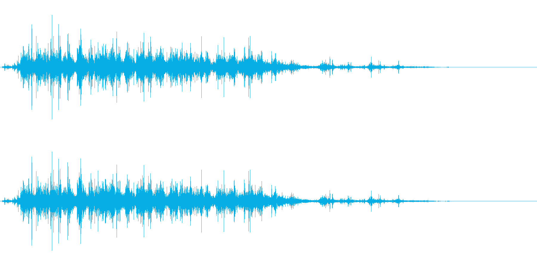 「ガラガラ…」木片シェーカー音リバーブ入の再生済みの波形