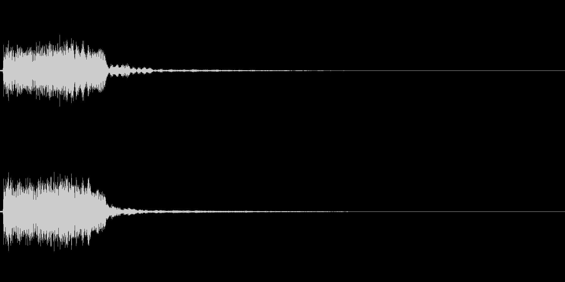 【システム音セット01-ポップダウン】の未再生の波形