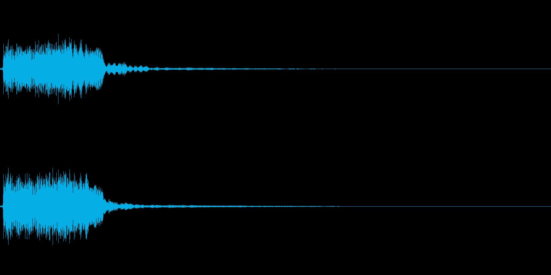 【システム音セット01-ポップダウン】の再生済みの波形
