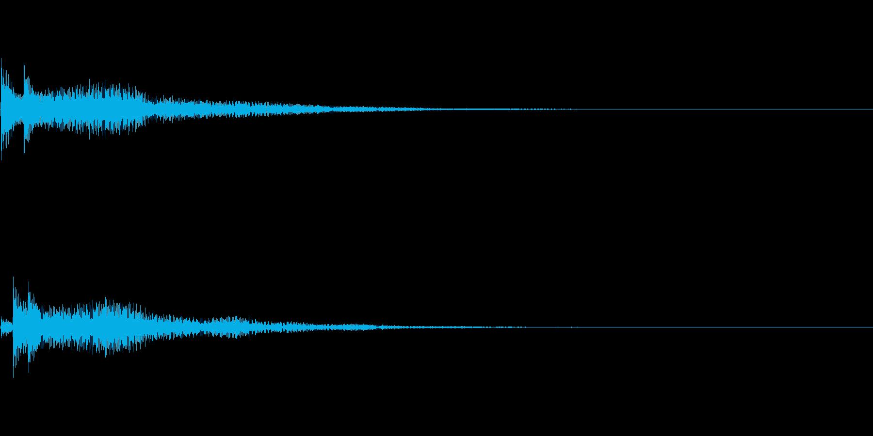 システム音10_シンセDPの再生済みの波形