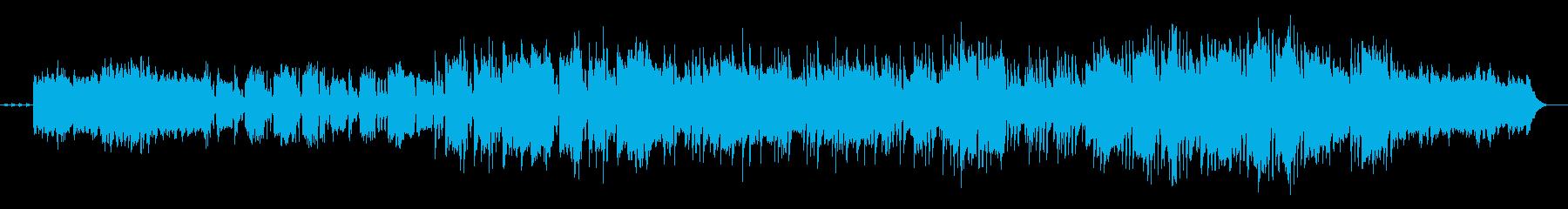 メロディがドラマチックなシンセ曲の再生済みの波形