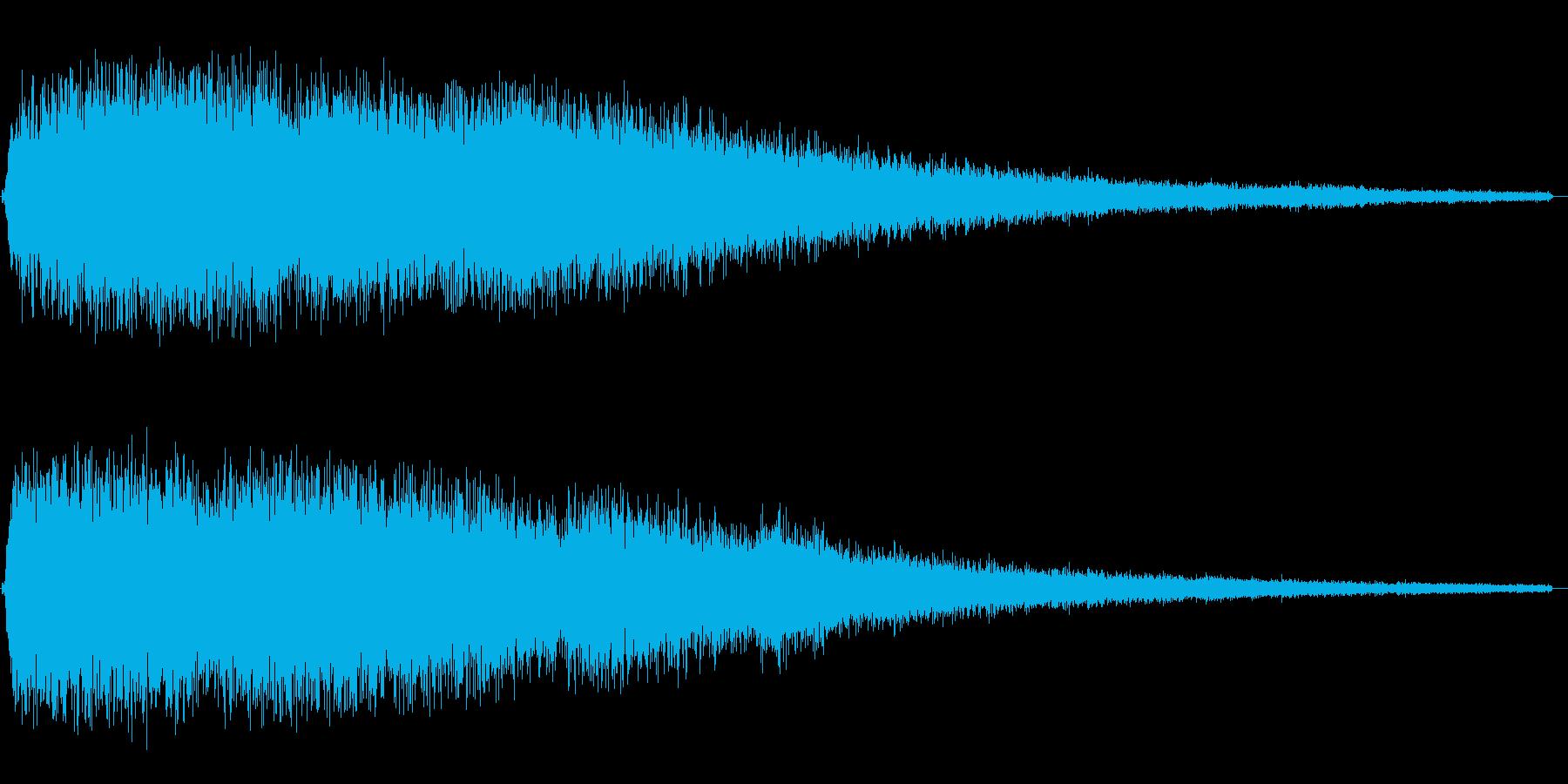 シューっと飛行機が通り過ぎる効果音の再生済みの波形