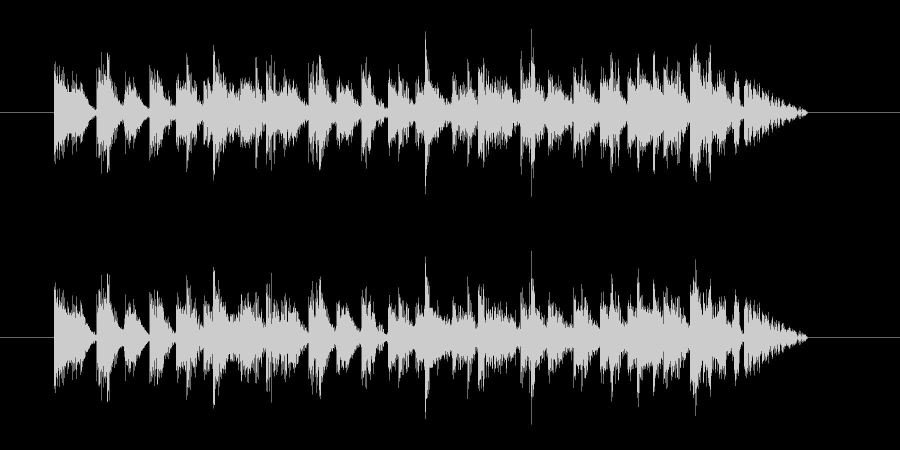 各種Hit系音色を組み合わせたジングルの未再生の波形