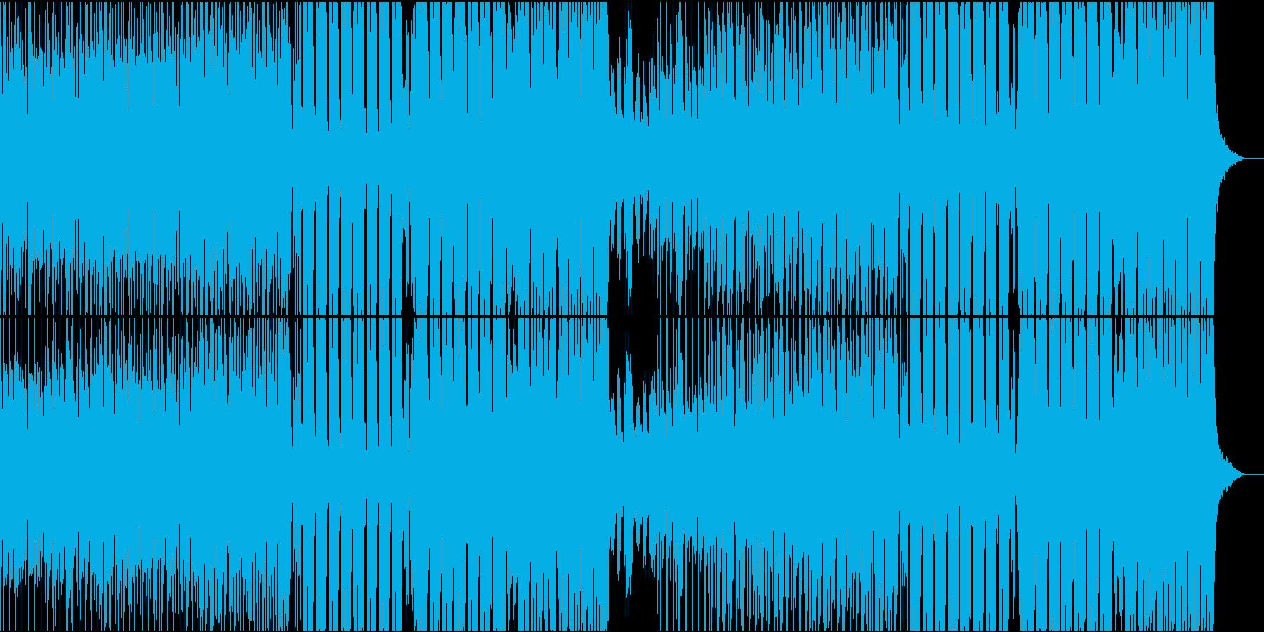 夏の疾走感あるEDMの再生済みの波形