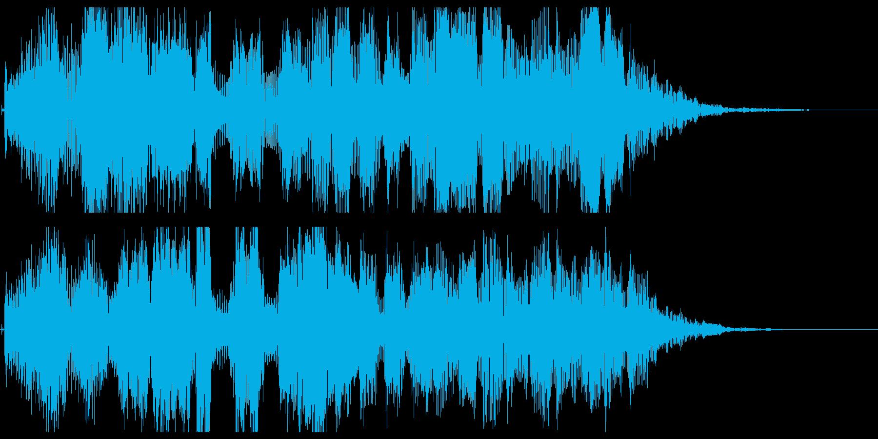 パワーアップ音03の再生済みの波形