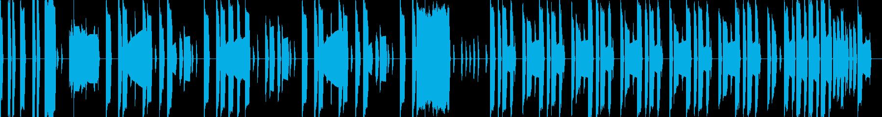 マリオ風の本格ファミコン曲1の再生済みの波形